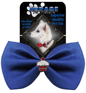 Cupcake Widget Pet Bowtie Blue