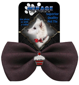 Cupcake Widget Pet Bowtie Brown