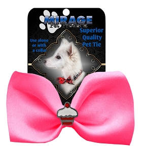 Cupcake Widget Pet Bowtie Hot Pink