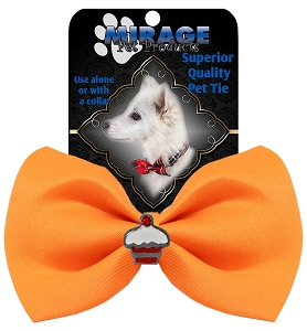 Cupcake Widget Pet Bowtie Orange