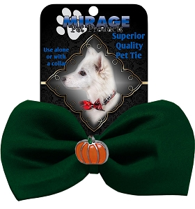 Pumpkin Widget Pet Bowtie Green