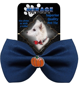 Pumpkin Widget Pet Bowtie Navy Blue