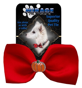 Pumpkin Widget Pet Bowtie Red