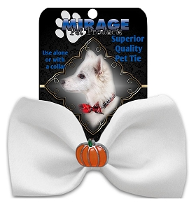Pumpkin Widget Pet Bowtie White
