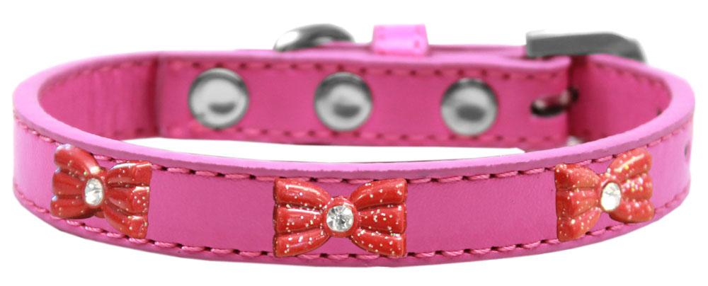 Purple Red Dog Collar Glitter