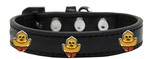 Chickadee Widget Dog Collar Black Size 12