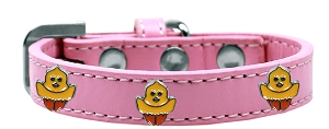 Chickadee Widget Dog Collar Light Pink Size 14