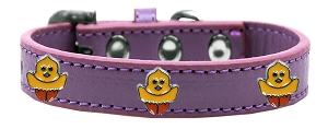 Chickadee Widget Dog Collar Lavender Size 10