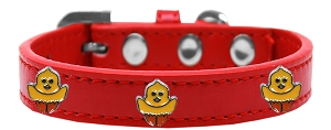 Chickadee Widget Dog Collar Red Size 18