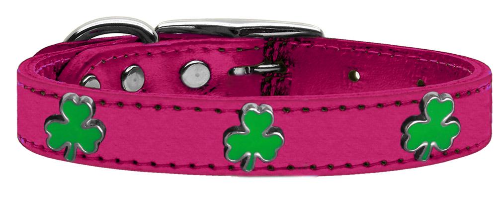 Pink Shamrock Dog Collar