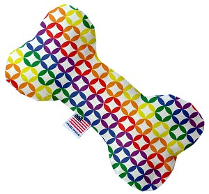 Rainbow Bright Diamonds 8 inch Stuffing Free Bone Dog Toy