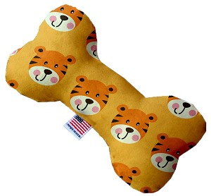 Tally the Tiger 10 inch Stuffing Free Bone Dog Toy