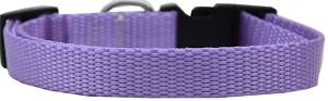 Plain Nylon Dog Collar XL Lavender