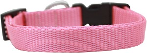 Plain Nylon Dog Collar XL Pink