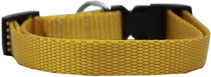 Plain Nylon Cat Safety Collar Golden Yellow