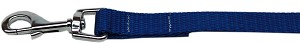 Plain Nylon Pet Leash 1in by 4ft Blue