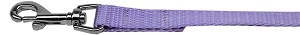 Plain Nylon Pet Leash 1in by 6ft Lavender