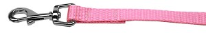 Plain Nylon Pet Leash 5/8in by 4ft Pink