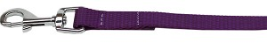 Plain Nylon Pet Leash 5/8in by 4ft Purple