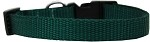 Plain Nylon Cat Safety Collar Green