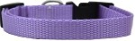 Plain Nylon Cat Safety Collar Lavender