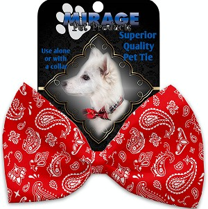 Red Western Pet Bow Tie
