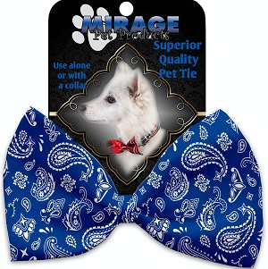 Blue Western Pet Bow Tie