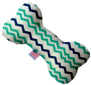 Aquatic Chevron 10 Inch Bone Dog Toy