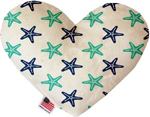 Starfish 6 Inch Heart Dog Toy