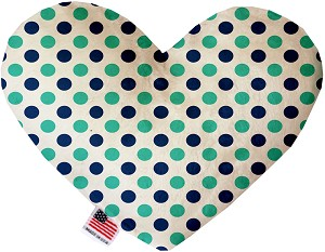 Aquatic Dots 6 Inch Heart Dog Toy