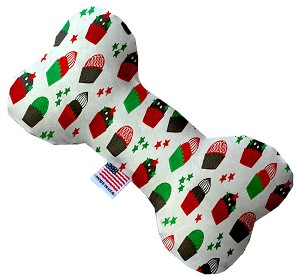 Christmas Cupcakes 10 Inch Bone Dog Toy