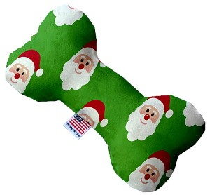 Smiling Santa 8 Inch Bone Dog Toy
