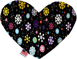 Smiley Snowflakes 8 Inch Heart Dog Toy