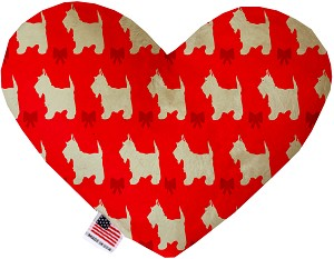 Christmas Westies 8 Inch Heart Dog Toy