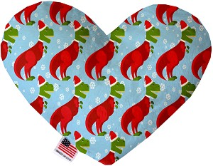 Christmas T-rex 6 Inch Heart Dog Toy