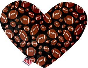 Footballs 8 Inch Heart Dog Toy