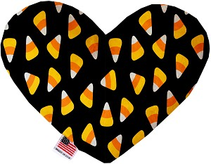 Candy Corn 6 Inch Heart Dog Toy