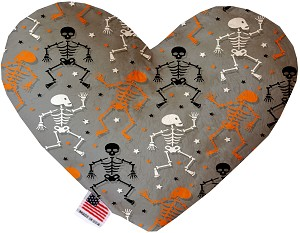 Skeletons Dancing 6 Inch Heart Dog Toy