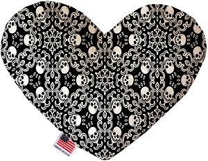 Spinning Skulls 8 Inch Heart Dog Toy