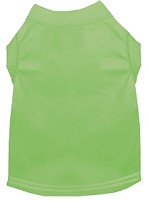 Plain Pet Shirts Lime Green XS