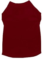 Plain Pet Shirts Maroon XS