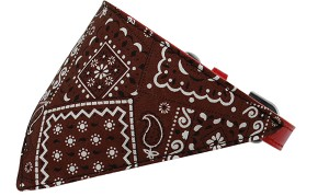 Brown Western Bandana Pet Collar Red Size 18