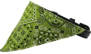 Lime Green Western Bandana Pet Collar Black Size 12