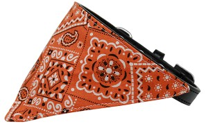 Orange Western Bandana Pet Collar Black Size 16