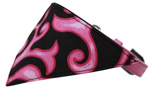 Pink Flame Bandana Pet Collar Bright Pink Size 18