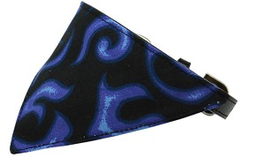 Purple Flame Bandana Pet Collar Black Size 20