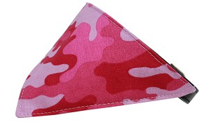 Pink Camo Bandana Pet Collar Black Size 16