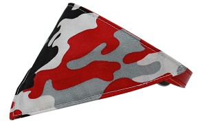 Red Camo Bandana Pet Collar Red Size 14