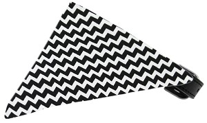 Black Chevron Bandana Pet Collar Black Size 12