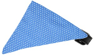Baby Blue Swiss Dots Bandana Pet Collar Black Size 20